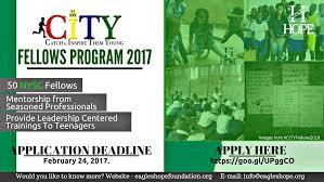 eagles h o p e foundation city fellows program 2017 for nysc corp