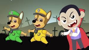 skye paw patrol dracula babies halloween night paw