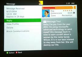 Xbox Live Meme - a random message i just received from another xbox live gamer or