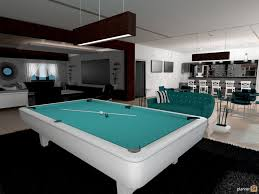 Billiard Room Decor Living Room Pool Room Bar Cinema Room Open Plan House Ideas