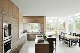 modern galley kitchen white wall gray laminated floor modern wooden kitchens decor white