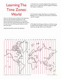 world time zones worksheet education com