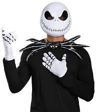 Jack Skeleton Costume Nightmare Before Christmas Jack Skellington Costume Kit Tie Gloves