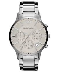 armani watches bracelet images Emporio armani watch men 39 s chronograph stainless steel bracelet tif