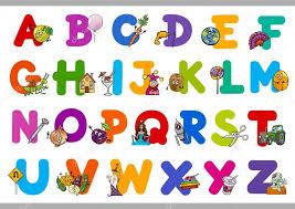 imagenes educativas animadas alfabeto de dibujos animados educativos para niños vector de stock