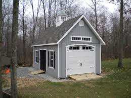 Shed Overhead Door Craftsman Style Shed With Garage Door Siding Trim And Shingles
