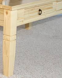 Wohnzimmertisch Natur Couchtisch 110x46x65cm 2 Schubladen Tischplatte Abgerundet