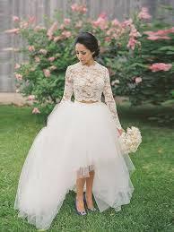 robe de mari e simple dentelle robe de mariée simple deux pièces avec manche longue en dentelle