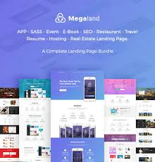 Online Resume Hosting by Megaland Multipurpose Landing Page Template By Ecologytheme