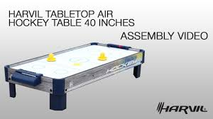 harvil air hockey table assembly video harvil tabletop air hockey table 40 inches 85950
