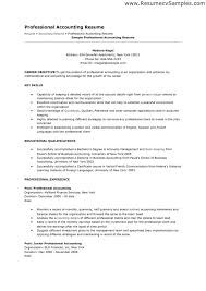 Sample Of Resume For Accounting Position by Sample Resume For An Accountant Position Templates