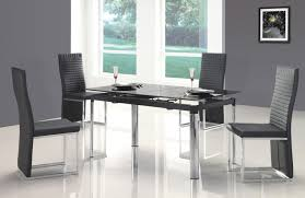glass chrome dining table awesome orange plastic modern dining room chairs metal dining room