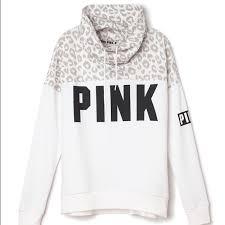 secret pink sweater pink s secret sold nip vs pink cheetah cowl neck