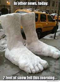 Funny Snow Meme - 2 feet of snow literally weknowmemes