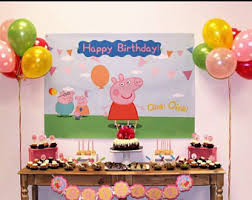 peppa pig birthday supplies peppa pig birthday etsy