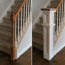 Oak Banister Rails It Was Installed Around The Existing Post I Built The Front And