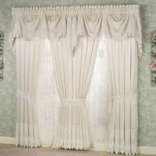 White Curtains With Green Leaves by Elegant Curtains Touch Of Class