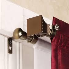 Antique Brass Curtain Rods Double Curtain Rod For Large Curtain U2013 Home Design Ideas