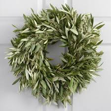 eucalyptus wreath live olive and eucalyptus wreath world market