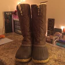 ll bean duck boots womens size 9 55 l l bean shoes s l l bean boots 10 shearling