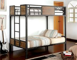 Black Bunk Beds Rustic Wood Black Metal Bunk Bed Caravana Furniture