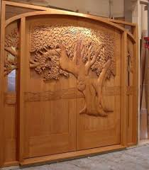 carved wooden door designs double door oversize radius exterior