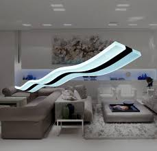 Modern Light Wave Led Pendant Light Fixture Ceiling Lamp Modern