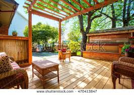 Deck With Pergola by Pergola Stock Images Royalty Free Images U0026 Vectors Shutterstock