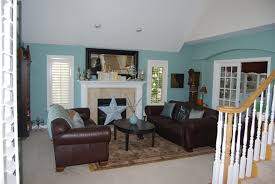 studio ideas home design brown and blue living room home design decorating