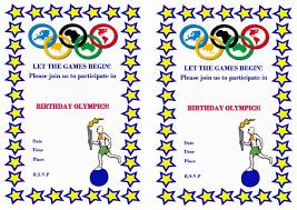 Olympic Invitation Cards Olympics U2013 Birthday Printable