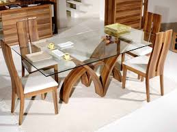 Ashley Furniture Glass Dining Sets Kitchen 12 Brown Painted Oak Dining Table With Rectangle Glass