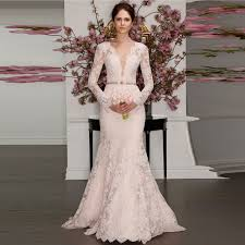 dusty wedding dress aliexpress buy 2016 new lace sleeves wedding dress