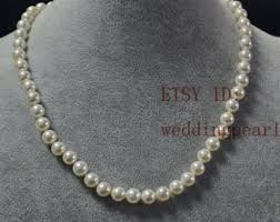 white shell pearl necklace images Cheap pearl necklace etsy jpg