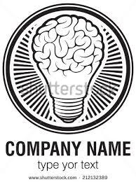 light bulb idea brain vector logo stock vector 212132386