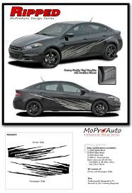 dodge dart 2013 2016 dodge dart ripped low side door splash 3m vinyl stripes