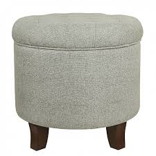 Homepop Storage Ottoman Homepop Boho Tufted Storage Ottoman Grey Homepop
