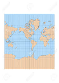 Mercator World Map by Very High Detailed Map Of The World In Mercator Projection With