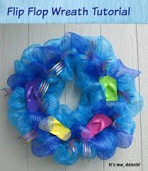 flip flop wreath flip flop wreath tutorial it s me debcb