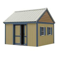 Outdoor Shed Kits by Best Barns Elm 10 Ft X 12 Ft Wood Storage Shed Kit Elm 1012