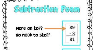 subtraction poem freebie fun in room 4b