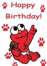 elmo birthday card wishing you happy birthday from elmo