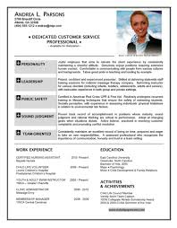 Standard Resume Format Sample by 100 Resume Customer Service Customer Service Experience