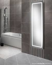 petal designer steam free led backlit bathroom mirror