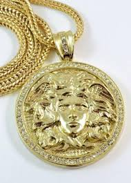 gold medallion necklace images Gold medallion jewelry watches ebay JPG