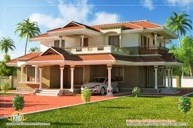 story traditional house plan unusual sq ft kerala home design