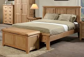 Simple Wooden Bed Frame Bedroom Light Brown Wood Bed Frames With Headboard Having Grey