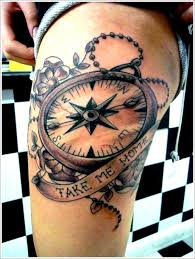 one piece compass tattoo get awesome compass tattoo designs