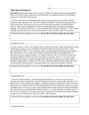 main idea worksheet 4 name main idea worksheet 4 directions read