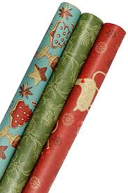 christmas wrapping paper sets k kraft vintage prints christmas kraft wrapping paper