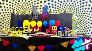 Superman Birthday Party Decoration Ideas 7 Batman Vs Superman Party Ideas Candybar Youtube